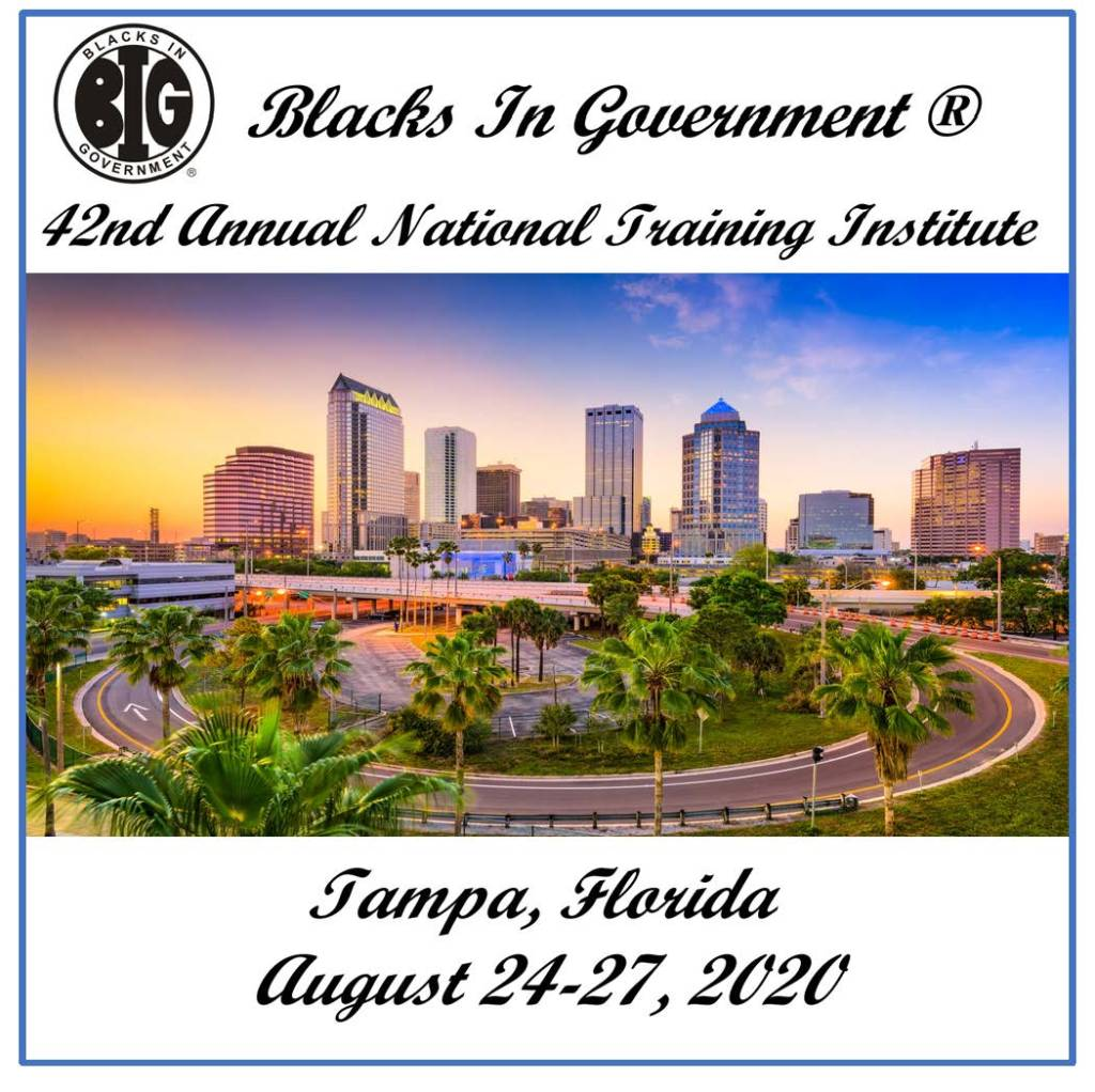 2020 National Training Institute - Blacks In Government ...